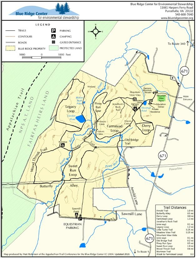 Blue Ridge Center For Environmental Stewardship Trail