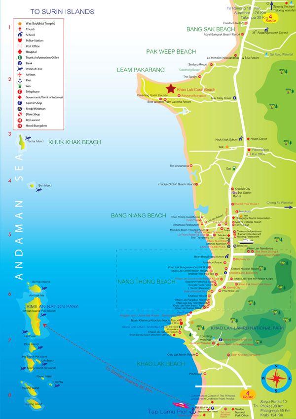 Beach Guide about Khao Lak best beaches, which beach to visit? Nangthong beach, Thai Muang beach, White sand beach, Pakarang beach, Pakweeb beach.