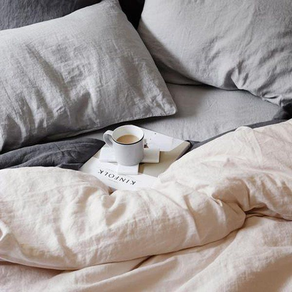 12 Things You Need If All You Care About Is Sleep Hunker Bed Linen Design Bed Linens Luxury Grey Linen Bedding