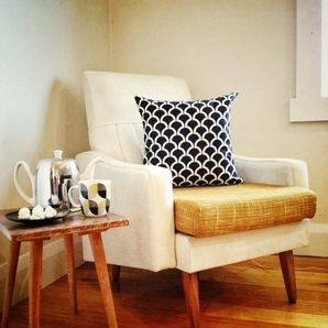 Black and White Billow Cushion Cover by Black Eyed Susie
