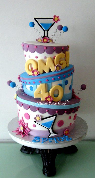 OMG! 40 Celebration Cake - by thevioletcakeshop @ CakesDecor.com - cake decorating website