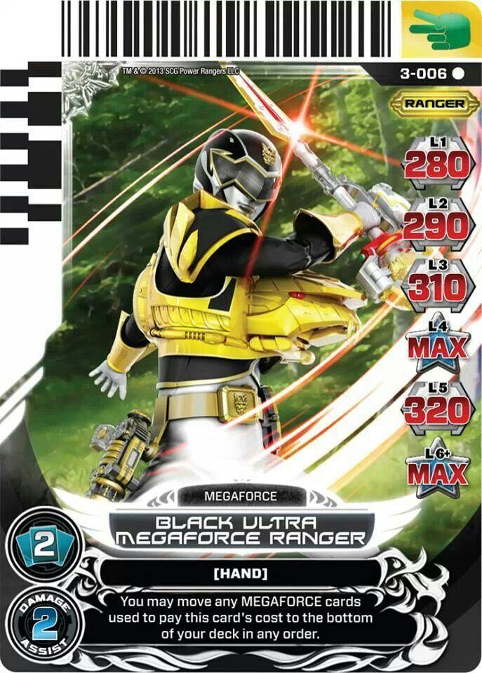 Black Ultra Megaforce Ranger Power Rangers Trading Card