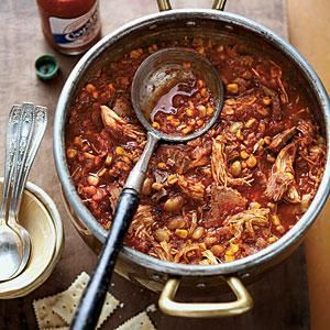 Chicken-and-Brisket Brunswick Stew | MyRecipes.com This was pretty good, kind of sweet.  It was expensive to make so I don't know that I'll be making it again.