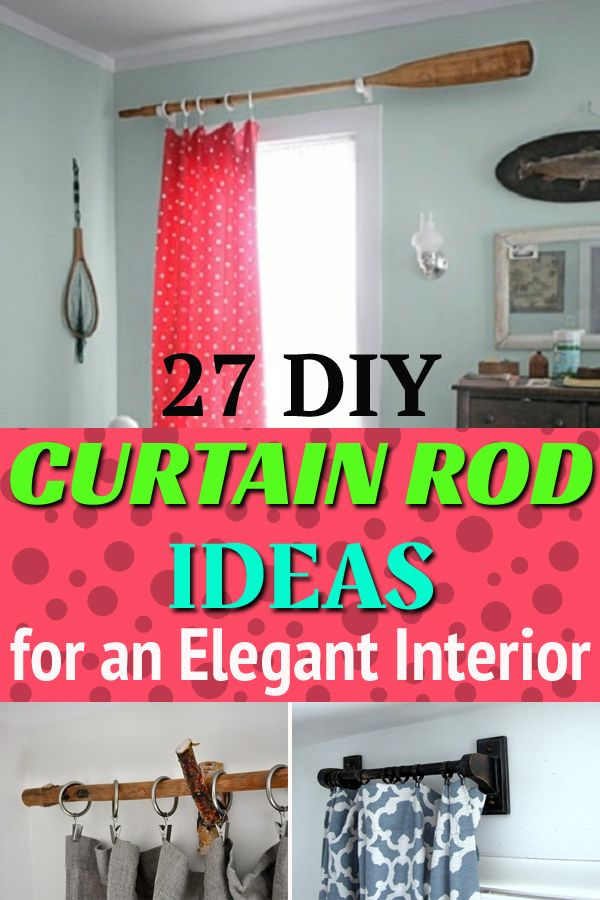 27 diy curtain rod ideas for an elegant
