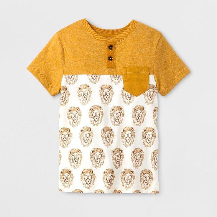 Toddler Boys' Henley Shirt Genuine Kids from OshKosh Yellow 3T