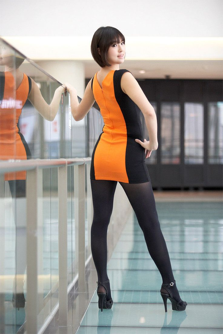 photo session ideas for women - y Asian hostess racequeen in pantyhose