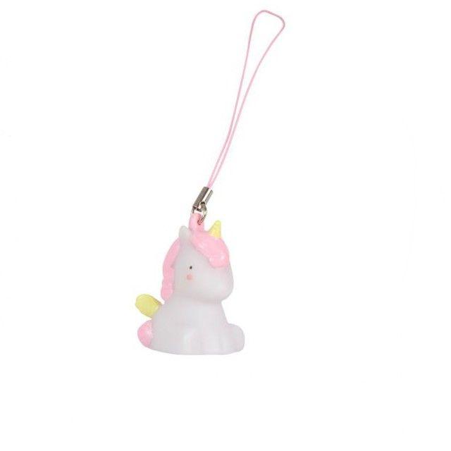 <p>Mini décoration en forme de licorne en PVC avec lien nylon rose pour l'accrocher à votre téléphone, votre porte-clés ou dans le sapin de Noël, design A little lovely company . A collectionner ou à offrir, elles feront à coup sur plaisir ! On aime leur côté très déco kawaï et très girly !</p> <p><em><br /></em></p> <p><em><em><br /></em></em></p>