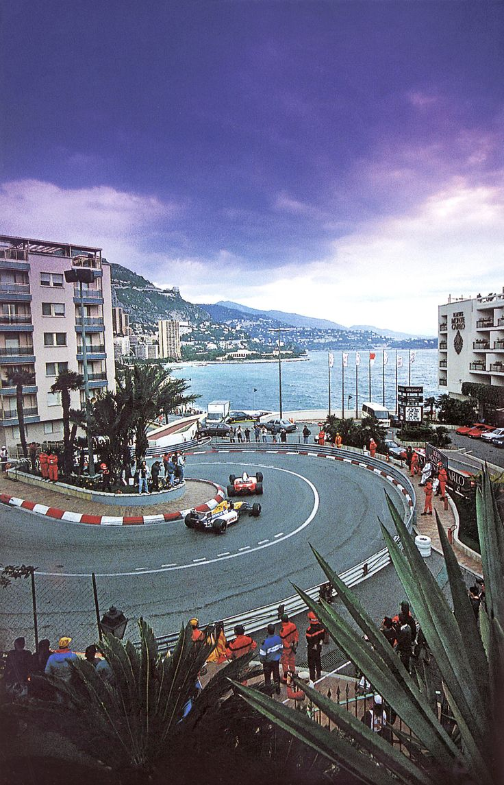 Monaco (city-state on French Riviera) This picture combines to show all the enticing things about the city of Monaco's culture such as Grand Prix, unique architecture, and an incredible landscape. This is on my bucket list! ~M x