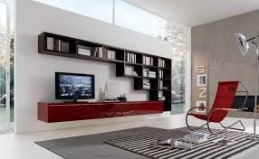 MisuraEmme Futuristic Furnitures for Modern Living Room Designs White Sliding Door TV Cabinets with Bookshelves for Contemporary Living Spac...