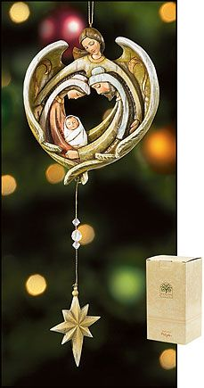 Angel and family dangle ornament from http://reigninggifts.com/Christmas_Angels_tree_ornaments_decorations.htm