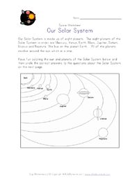 Activities: lots of space themed worksheets for all ages