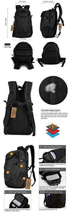 Arcenciel Tactical Backpack. ArcEnCiel 25L Water-Resistant Military Backpack Rucksack Gear Tactical Assault Pack Student School Bag for Hunting Camping Trekking Travel -Rain Cover Included (Black).  #arcenciel #tactical #backpack #arcencieltactical #tacticalbackpack