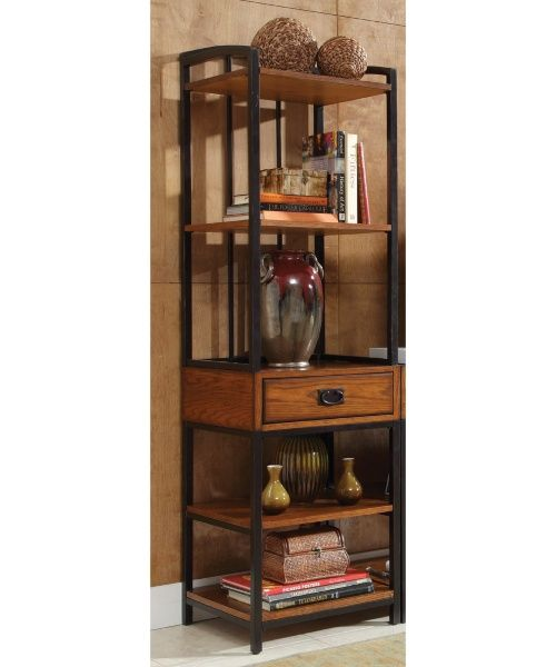 Home Styles Modern Craftsman Media Gaming Tower - Oak Finish - Media Storage at Hayneedle