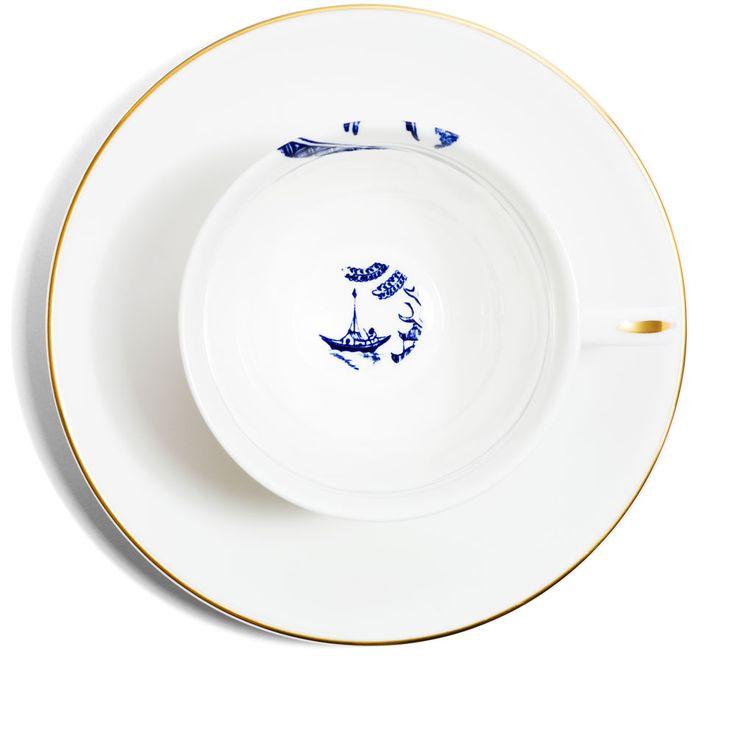 Richard Brendon -gold teacup and saucer
