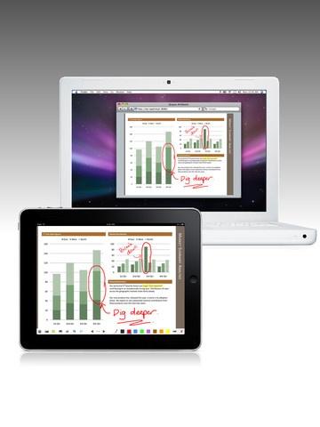 Apps para iPad que convierte un pc, portátil o pantalla en pizarra interactiva, a través de una ip.