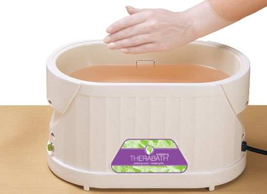 Paraffin Bath... can get at lots of places... Sally... Etc... Sharper Image