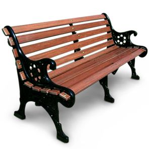 This Renaissance Patio Bench Has A Beautiful Cast Aluminum Frame And The  Back And Seat Planks Are Crafted With A Gorgeous Recycled Plastic Redwood.