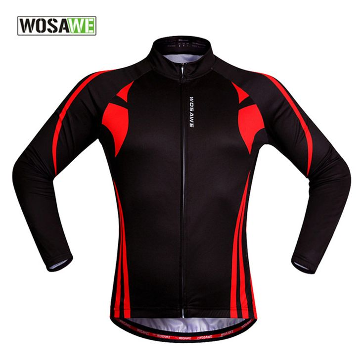 WOSAWE Cycling Jersey Ciclismo 2017 Pro Breathable Camiseta Tour De France Long Sleeve Black Red  Bicycle Clothing #Affiliate