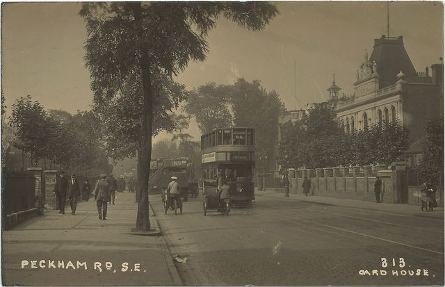 North Peckham London England | UK Camberwell Peckham Road London UK 1920s RPPC Downtown View at the ...