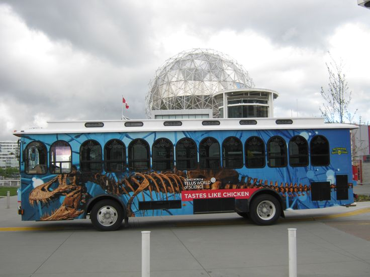 This wrap was designed by the talented design team at Science World (www.scienceworld.ca) then printed and installed by FASTSIGNS Vancouver.  www.fastsigns.com/653