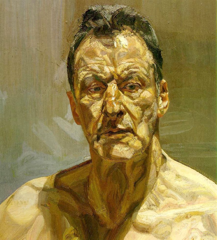 Lucian Freud by Lucian Freud...complexe. Freud, in this painting, shows the complexity of how he saw himself. Honest, raw.