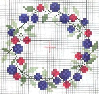 Вышивка цветов на скатерти, са |