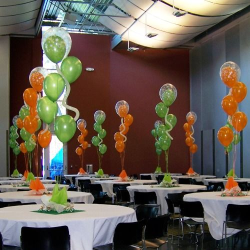 16 best images about centerpiece ideas on pinterest baby for Helium balloon centerpieces