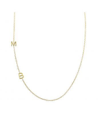 2 initial necklace