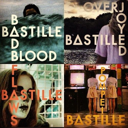 Bastille=heaven. Their sound is really unique and their lyrics are amazing. The song that I am obsessed with at the moment is 'Haunt (demo)'. Gonna see them in concert :D check them out.