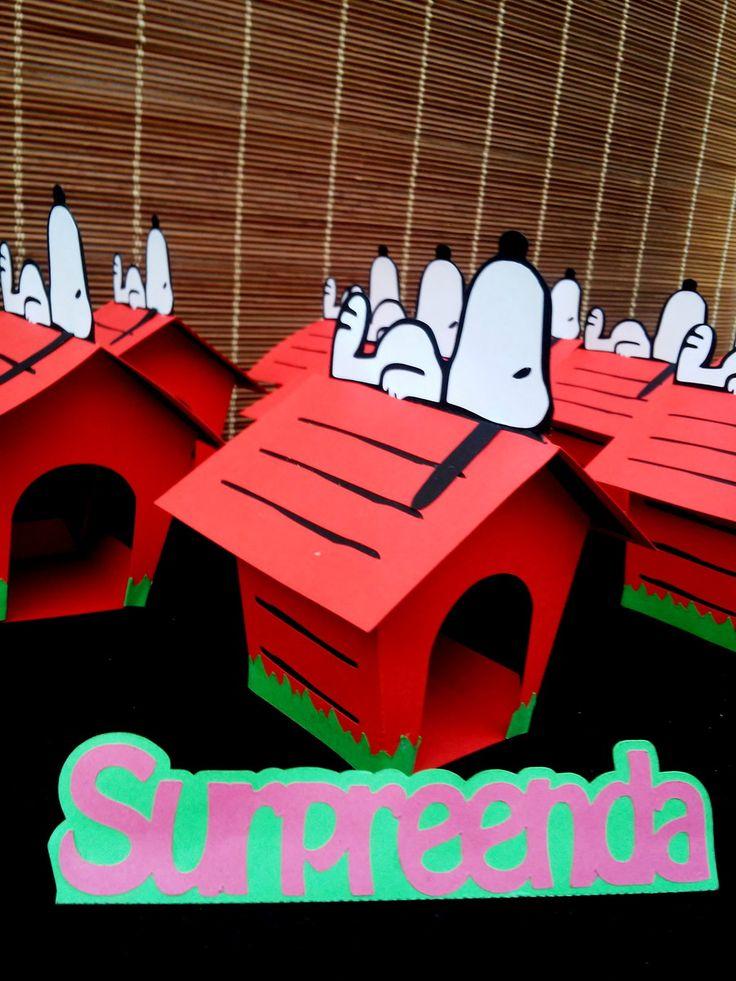 Casinha do Snoopy em 3d