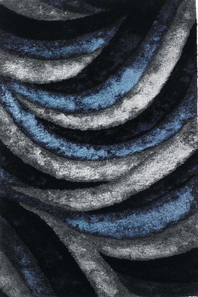 Blue Grey Area Rug