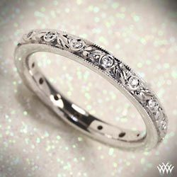 Ritani Romantique Eternity Band Would look amazing with my vintage inspired engagement ring.