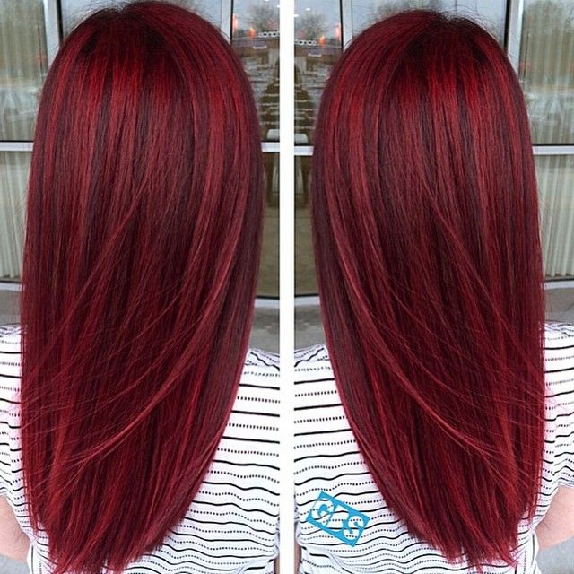 """Electric Ruby!♥ @kbgypsyfithair #wilmington #northcarolina @wellahair…"