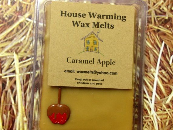 caramel apple wax melts soy blend wax tarts candle melts fall scent scented wax melts. Black Bedroom Furniture Sets. Home Design Ideas