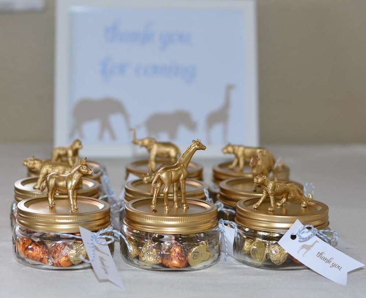 These Safari Baby Shower favors are just so cute! See more party ideas at CatchMyParty.com