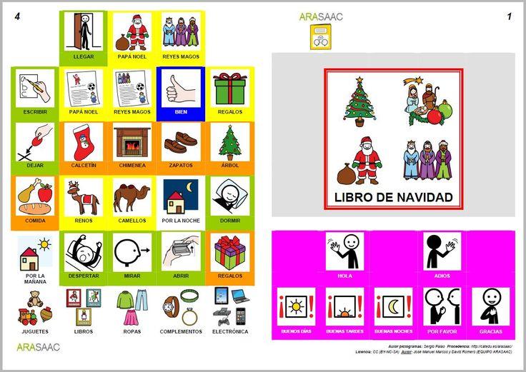 MATERIALES - Libros de Comunicación Aumentativa y Alternativa: Libro de Navidad. http://arasaac.org/materiales.php?id_material=553