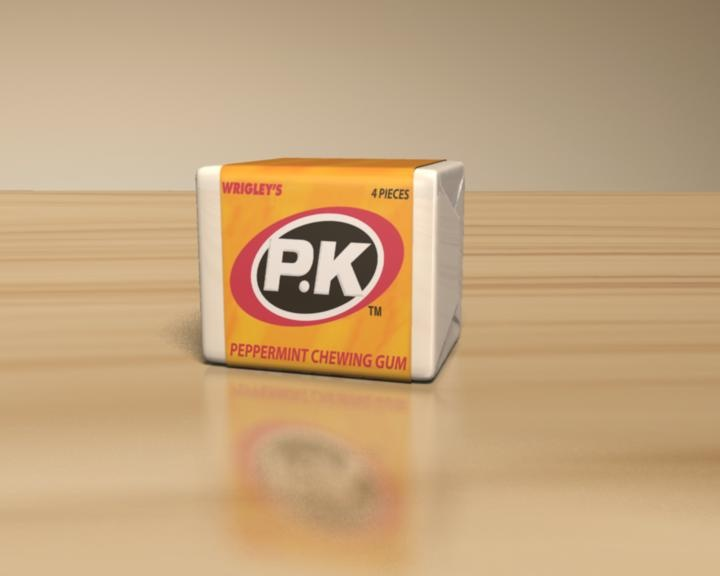 PK Chewing Gum - my mam taught me a little song about this - pk penny a packet, first you chew it then you crack it, then you stick it in your jacket, pk penny a packet