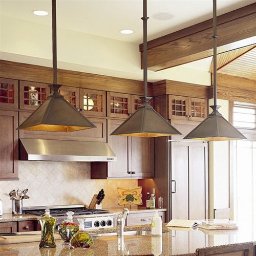 Mission Style Lighting: Wide Pendant Antique Copper Finish With Solid Side  Overlay Part 90