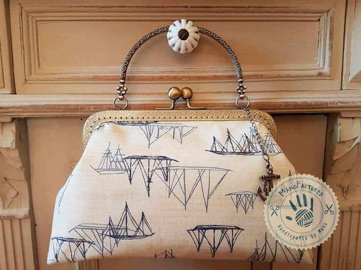 Anchors away! casual bag, 18 cm by ManoFactured on Etsy