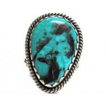 McKee Platero-Blue Diamond Ring-Navajo Style - $3,610.00