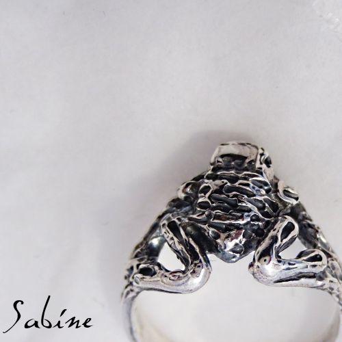 Frog ring sterling silver www.sabinejewellery.com.au