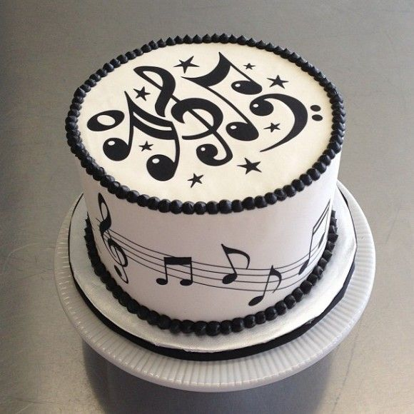 Cake Design Musical Notes : Music Cake Musik Torte Pinterest Birthdays, Happy ...