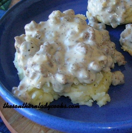 I absolutely love this recipe over mashed potatoes. It is perfectly spiced, has a little kick to it; in fact, everyone will love it