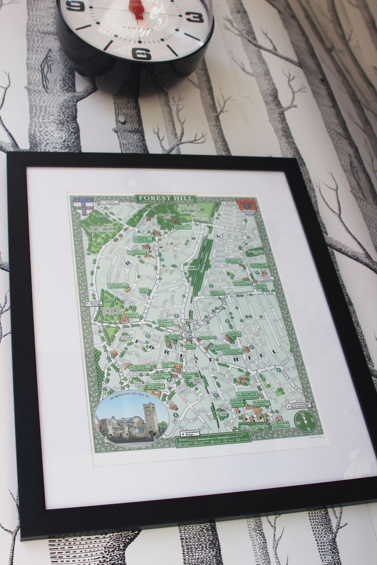 Forest Hill map on display at B Cards & Bunka, Forest Hill, London SE23 (Photo by B Cards & Bunka)