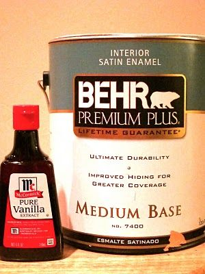 Remembering this when i paint my house -- To get rid of paint fumes... add a tablespoon of vanilla extract to a gallon of paint, mix well. It does not effect paint color! And makes the whole room smell like vanilla when you're done! Need this now!!!