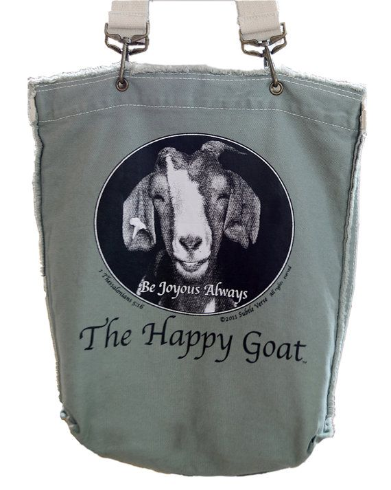 The Happy Goat Bag  NEW  Inspiriational Green Tote by thehappygoat, $25.00