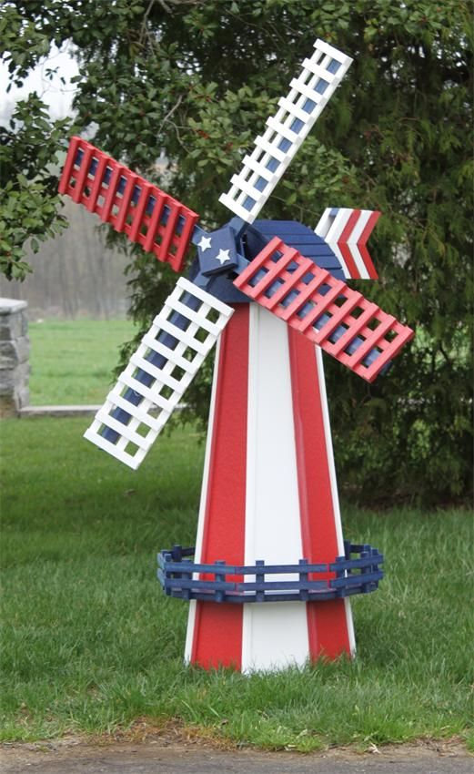 Amish Made Poly Two Tone Dutch Windmill Large