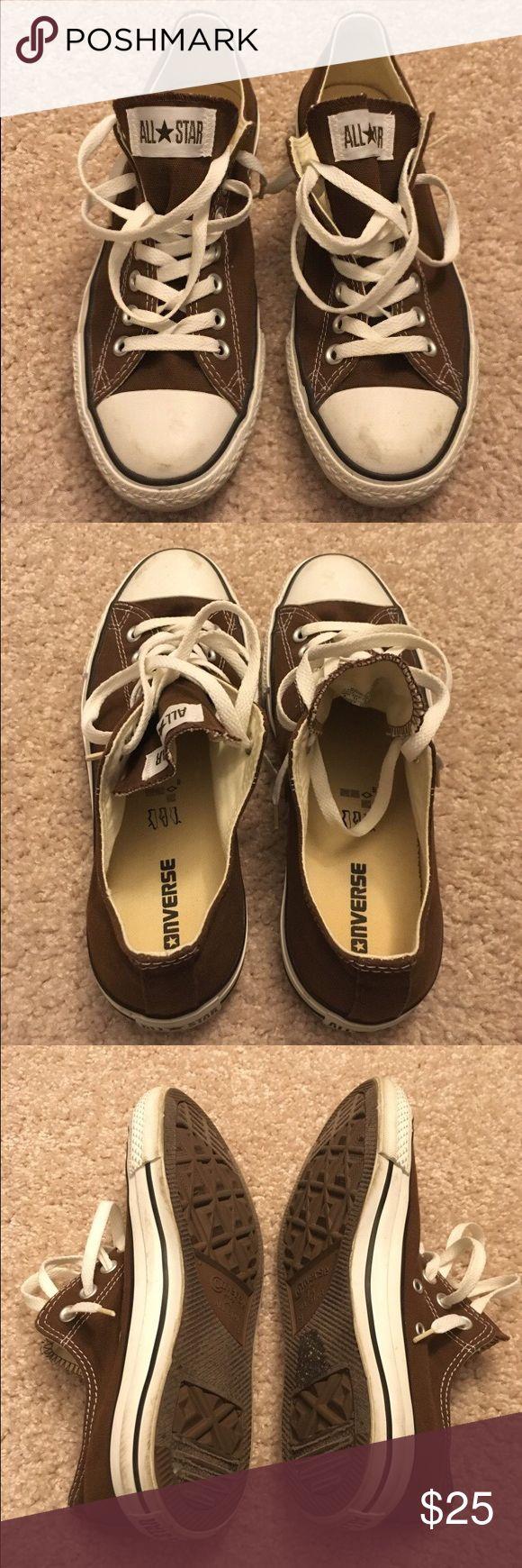 Converse Allstars low top brown Low top brown converse Allstars Converse Shoes Sneakers