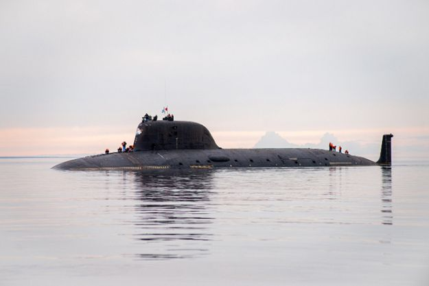 Russian tv reported Russian Navy accepted 1st Project 855 Yasen-class nuclear-powered attack submarine this week.K-560 Severodvinsk,13,800ton boat in construction at Sevmash yards since 1993—completion long delayed due to Russia's economic malaise.Not until 2010 Russia launched subundergoing trials since Sept 2011.Expected to be quietest  most capable Russian attack submarine to date being more potent than Soviet-era Akula  Sierra-class designs.