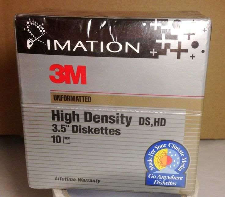 IMATION 3M  High Density 3.5 Diskettes UNFormatted 2.0 MB DS #Imation #Imation3MDiskettes #ImationUnformattedDiskettes HD 10 Pack #Imation3m